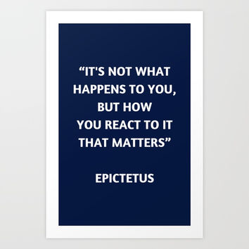 Stoic Philosophy Quote - Epictetus Art Print by Love from Sophie