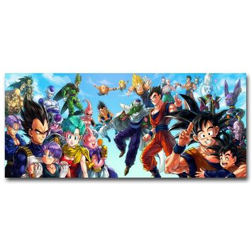 Dragon Ball Z All Characters Art Silk Poster