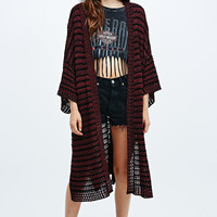 Staring at Stars Kimono Cardigan in Black and Red - Urban Outfitters
