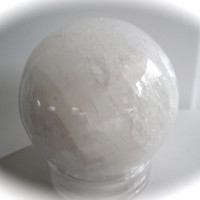 Large Selenite Carved Crystal Sphere Ball - Angelic Stone!