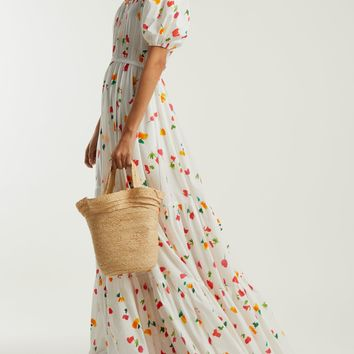 Bardot off-the-shoulder cotton-blend maxi dress | Caroline Constas | MATCHESFASHION.COM US