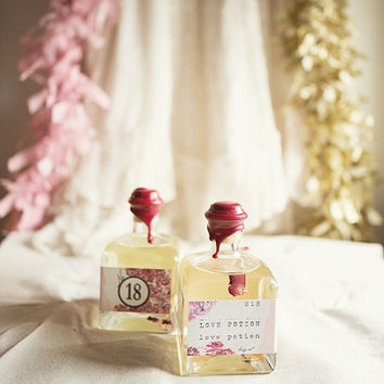 Love Potion No. 18 Bath & Body Oil - All Natural - Vanilla Pomegranate