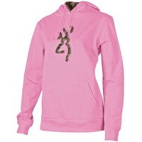Browning Women's Camo Buckmark Light Pink Hoodie Sweatshirt