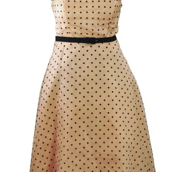 American Rockabilly Peach Puff Prom Dress