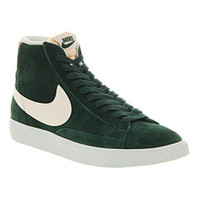 Nike BLAZER HI SUEDE VINTAGE DARK ATOMIC TEAL SAIL Shoes - Nike Trainers - Office Shoes
