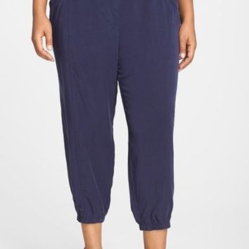 Plus Size Women's Eileen Fisher Tencel Twill Tapered Crop Pants,