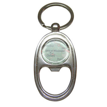 University of Mississippi Map Bottle Opener Key Chain