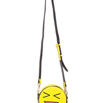 Skinnydip Emoji Face Crossbody Bag
