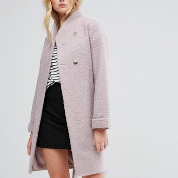 ASOS Textured Throw on Coat at asos.com