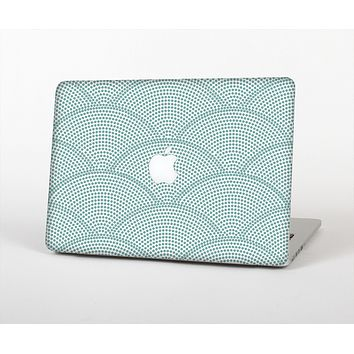 The Teal Circle Polka Pattern Skin for the Apple MacBook Air 13""