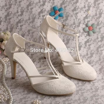 Custom Made High Heel T-strap Shoes