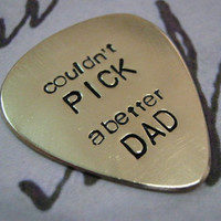 Father's Day, Guitar Pick, Personalized guitar pick, Mens Gifts, Anniversary gifts for men, Graduation, Aluminum, Brass