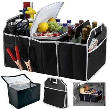 Universal Car Trunk Boot Room Organizer Fabric Collapsible Storage Box Foldable Bag Home Storage Bag Toy Bags