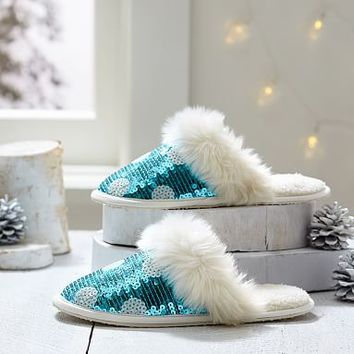 Gumdrop Sequin Slippers, Pool