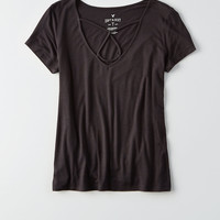 AEO Soft & Sexy Triangle T-Shirt , True Black