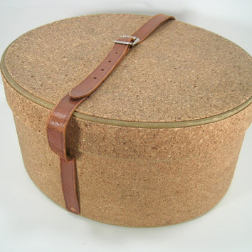 Vintage Cork Hat Box