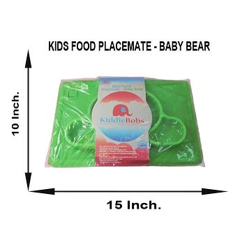kids food  placemat baby bear MEASURES 15 INCHES BY 10 INCHES