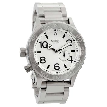 Nixon A035100 Men's 42-20 Tide Swiss Made Stainless Steel White Dial Dive Watch