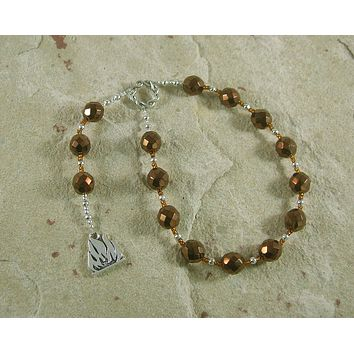 Vulcan Pocket Prayer Beads: Roman God of Fire and Smithcraft