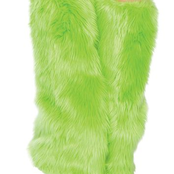 Fur Boot Covers - Lime