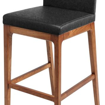 Devon Fabric Counter stool Walnut Legs, Night Shade (Set of 2)