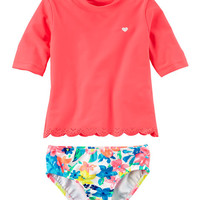 Carter's Scalloped Rashguard Set