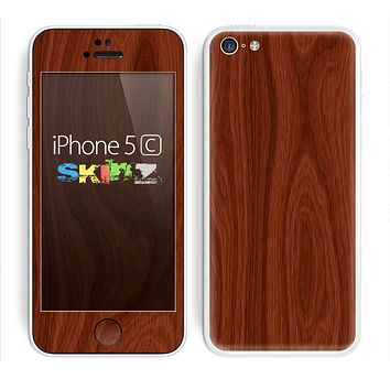 The Red Mahogany Wood Skin for the Apple iPhone 5c