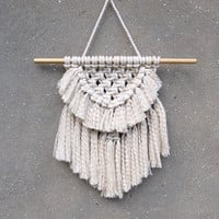 Modern macrame wall hanging Bedroom wall decor
