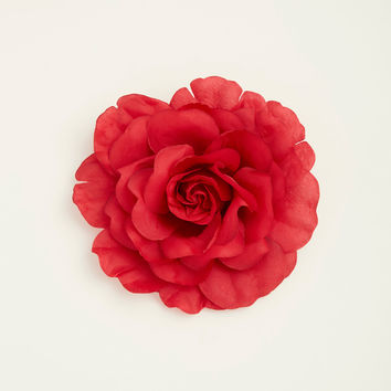 Red Oversized Flower Hair Clip