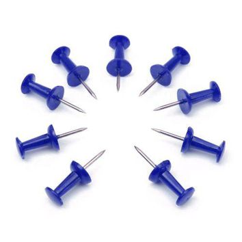 Affordable 50PCs Push Pin Assorted Thumbtacks Attention Cork Board Office School Blue NEW