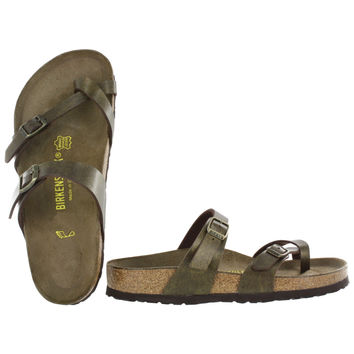 Birkenstock Women's MAYARI gold adjustable toe loop sandals 071041