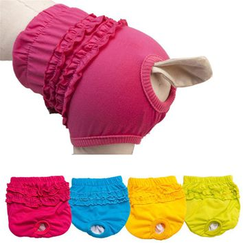 New Pet Dog Panty Brief Bitch In Season Sanitary Pants For Girl Female puppy doggy short menstruation period on sale
