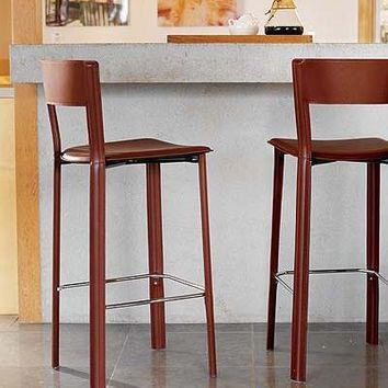 4 Design Within Reach Leather Counter Stools