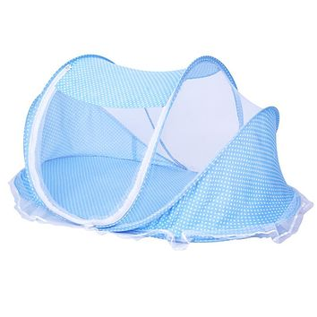 Foldable New Baby Crib 0-2 Years Baby Bed With Pillow Mat Set Portable Folding Crib With Netting Newborn Sleep Travel Bed