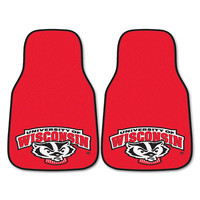 Wisconsin Badgers NCAA Car Floor Mats (2 Front) Badger Logo