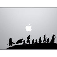 LOTR The 9 Walking Vinyl Sticker Laptop Macbook Mac Air Apple Lord Of The Rings