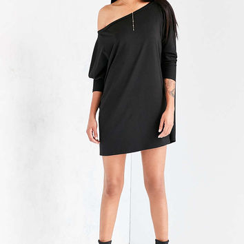 Silence + Noise Slouchy Off-The-Shoulder Knit Mini Dress - Urban Outfitters