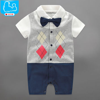 2017 Baby Rompers Autumn Newborn Baby Clothes Cotton Baby Boy Clothing Sets Spring Baby Boy Clothing Roupa Bebe Infant Jumpsuits Style H