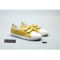 Puma Gucci honeybee co-branded lazy man leather single shoes flat and round head with casual white shoes  F-SSRS-CJZX Yellow