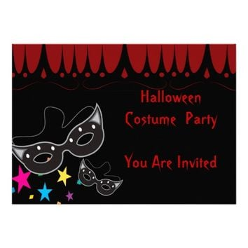 Cool Halloween mask masquerade Party Invitation