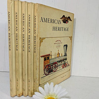 American Heritage 5 Books Set of Vol. IX Dec 1957 through August 1958 American Heritage Hard Cover Magazines - Incomplete Year Missing No. 6