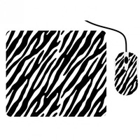 Zebra Print Mouse And Mouse Pad Set
