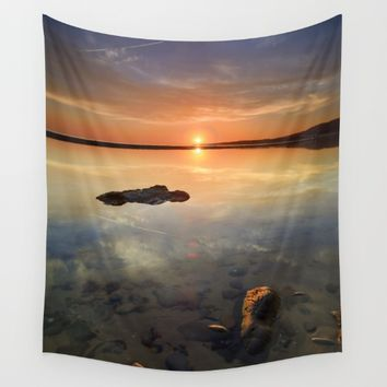"""Sun at the beach"" Wall Tapestry by Guido Montañés"