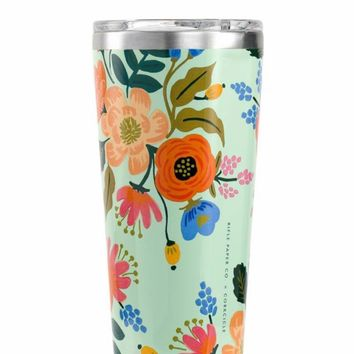 Rifle Paper Co. + Corkcicle Tumbler in Mint - 16 oz