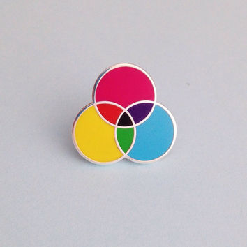 CMYK Enamel Pin Badge, Lapel Pin, Tie Pin