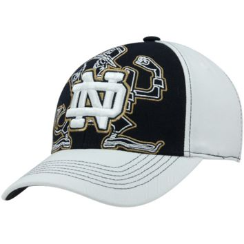 Top of the World Notre Dame Fighting Irish Mixer One-Fit Hat - White/Navy Blue