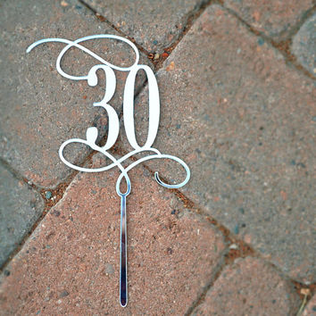 CUSTOM CAKE TOPPER Number Topper Customized Anniversary, Personalized Cake Topper for Birthday, Custom Personalized Wedding Cake Topper