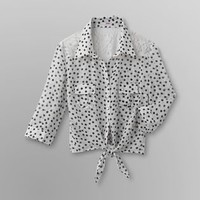 Bongo- -Junior's Chiffon Crop Top - Polka Dots-Clothing-Juniors-Tops