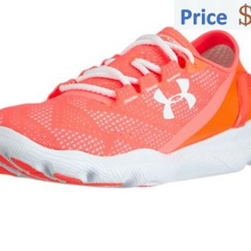 shoe fit Under Armour Womens UA Speedform Apollo Vent Hyper Punch After Burn White sneaker