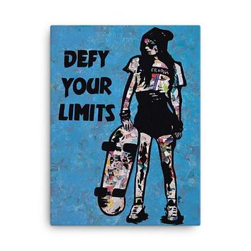 Defy Your Limits Collage Canvas Wall Art 18x24